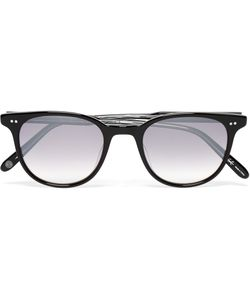 Garrett Leight California Optical | Wellesley D-Frame Acetate Mirrored Sunglasses Black