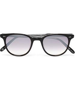 Garrett Leight California Optical   Wellesley D-Frame Acetate Mirrored Sunglasses Black
