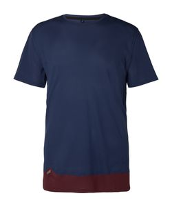 Soar Running | Colour-Block Mesh T-Shirt Blue