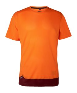 Soar Running | Colour-Block Mesh T-Shirt Orange