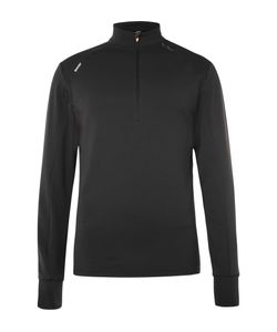 Soar Running | Stretch-Jersey Mid-Layer Running Top Black