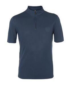 Iffley Road   Sidmouth Dri-Release Half-Zip Running T-Shirt Blue