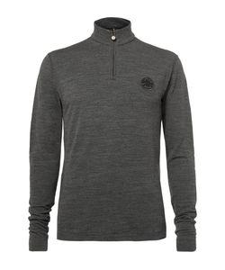 Iffley Road   Thorpe Merino Wool Half-Zip Sweater Gray