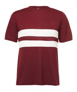 Iffley Road | Cambrian Striped Dri-Release Running T-Shirt Burgundy