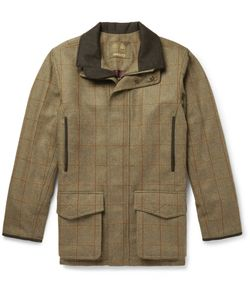 Musto Shooting | Checked Stretch-Tweed Field Jacket Green
