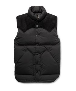 Rocky Mountain Featherbed | Christy Suede-Trimmed Shell Down Gilet Black