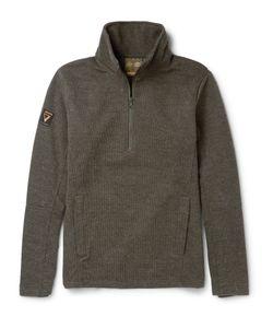 Musto Shooting | Fleece-Back Jersey Half-Zip Sweater Green
