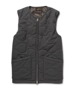 Beams Plus | Quilted Flannel Gilet Gray