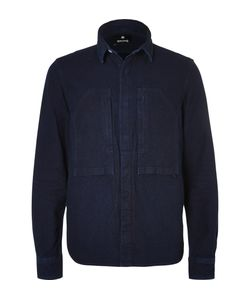 Snow Peak | Okayama Slim-Fit Indigo-Dyed Cotton Shirt Blue