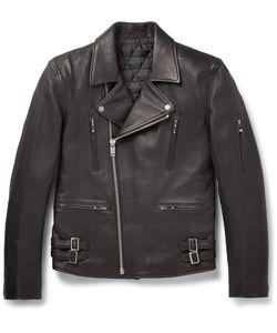 Blackmeans | Leather Biker Jacket Black