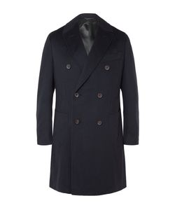 Thom Sweeney | Maddox Double-Breasted Cashmere Coat Blue