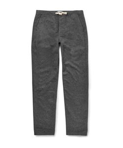 Oliver Spencer Loungewear | Drawstring Cotton-Twill Trousers Gray