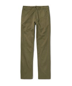 Freemans Sporting Club | Winchester Cotton-Twill Trousers Green