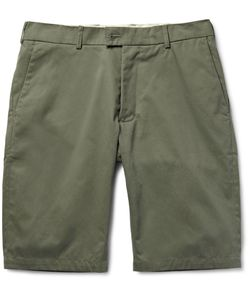 Private White V.C.   Slim-Fit Ecoseamreg Cotton Chino Shorts Green