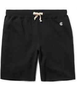 Todd Snyder + Champion | Slim-Fit Loopback Cotton-Jersey Shorts Black