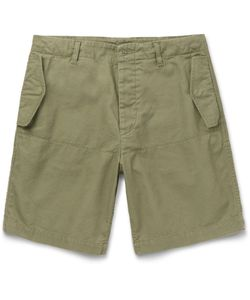 Albam | Cotton-Canvas Shorts Green
