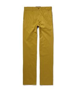 Freemans Sporting Club | Winchester Cotton-Twill Trousers Yellow