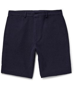 Several | Paddock Slim-Fit Cotton-Blend Terry Shorts Blue