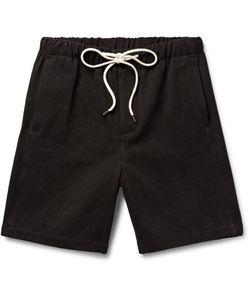 Fanmail | Hemp And Cotton-Blend Shorts Black