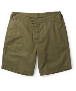 MARGARET HOWELL | Mhl Cotton And Linen-Blend Twill Shorts Green