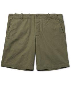 Freemans Sporting Club | Organic Cotton-Ripstop Shorts Green