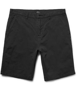 Stüssy | Gramps Washed Cotton-Twill Shorts Black