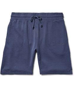 Stüssy | Stock Loopback Cotton-Jersey Shorts Blue