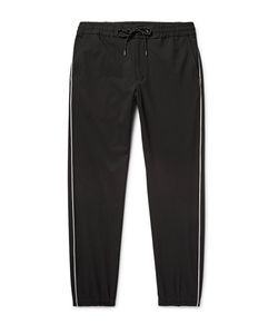 Marvy Jamoke | Tapered Piped Twill Trousers Black