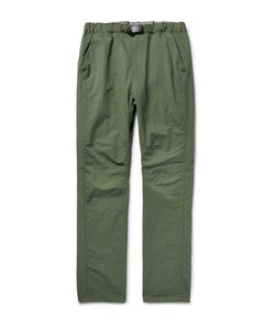 NONNATIVE | Coach Easy Tapered Cotton-Blend Shell Trousers Green