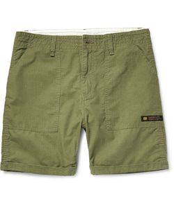 Neighborhood | Slim-Fit Cotton-Ripstop Shorts Green