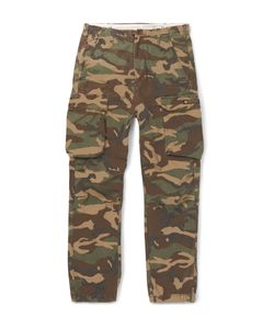 Neighborhood | Camouflage-Print Cotton Cargo Trousers Green