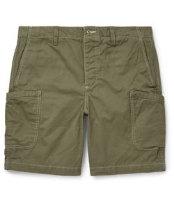OUTERKNOWN | Drawstring Organic Cotton Shorts Green