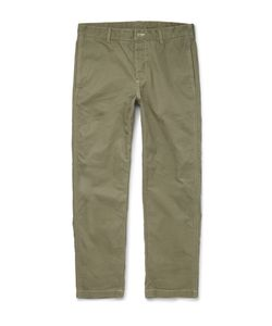 OUTERKNOWN | Playa Slim-Fit Organic Cotton Trousers Green