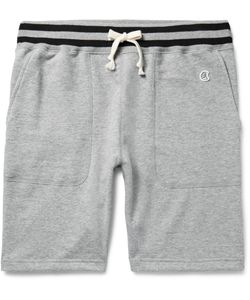 Todd Snyder + Champion | Loopback Cotton-Jersey Shorts Gray