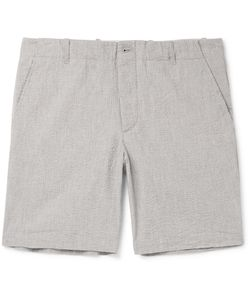 Freemans Sporting Club | Cotton-Seersucker Shorts Gray