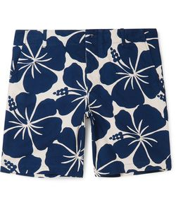 Freemans Sporting Club | Hawaiian-Print Cotton Shorts Blue
