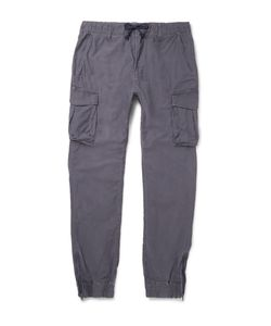 Beams | Japan Silm-Fit Cotton Cargo Trousers Gray