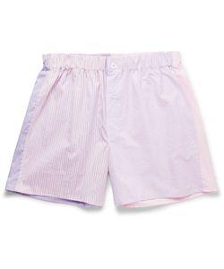 Emma Willis | Patchwork Cotton Boxer Shorts Purple