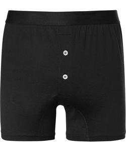 Handvaerk | Pima Cotton-Jersey Boxer Briefs Black