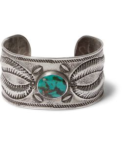 Peyote Bird | Buffalo Sterling Silver Turquoise Cuff Silver