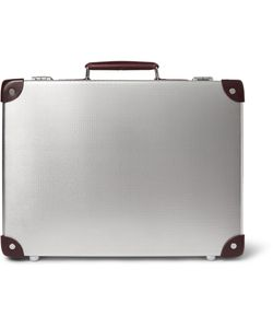 Globe-Trotter | Ekocycletrade Leather-Trimmed Aluminium Attaché Case Silver