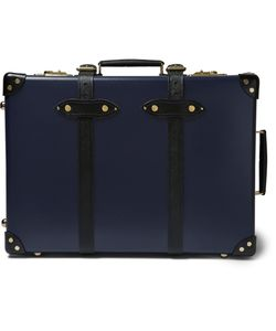 Globe-Trotter | Spectre 21 Leather-Trimmed Trolley Case Blue