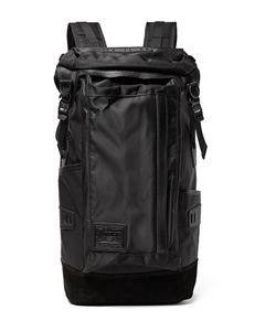 Master Piece | Potential Leather And Suede-Trimmed Canvas Backpack Black