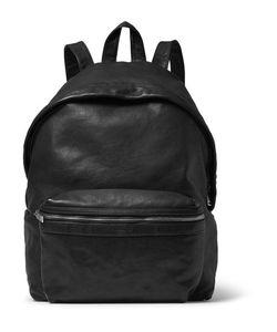 Saint Laurent | Washed-Leather Backpack Black