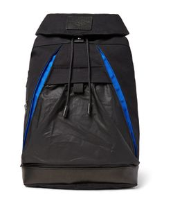 Atelier de L'Armée | Leather-Trimmed Cotton-Canvas Backpack Black
