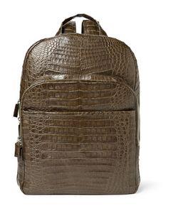 Santiago Gonzalez | Crocodile Backpack Green