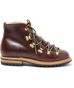 Viberg | Hiker Whole-Cut Leather Boots Brown