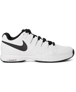 Nike Tennis   Zoom Vapor 9.5 Tour Tech-Canvas And Mesh Sneakers White