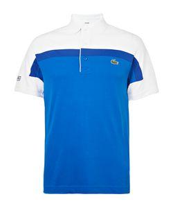 Lacoste Tennis   Colour-Block Jersey Polo Shirt Blue