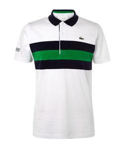 Lacoste Tennis   Striped Cotton-Piqué Polo Shirt White